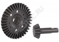 Дифференциал Ring gear, differential/ pinion gear, differential (machined, spiral cut) (front)  - PILOTRC